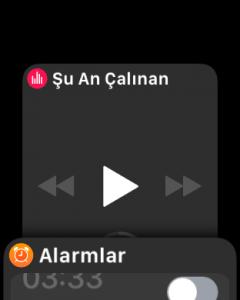 Apple Watch Uygulamalar arası geçiş