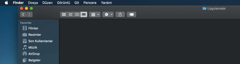 macOS Mojave karanlık mod